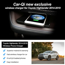Load image into Gallery viewer, CarQiWireless Wireless Phone Charger for Toyota Highlander (XU50) 2014-2019