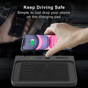 CarQiWireless Wireless Charger for Ford Explorer 2020 2021 U625 Accessories for Ford Explorer Base, XLT, Limited, ST, Platinum, Explorer Limited Hybrid