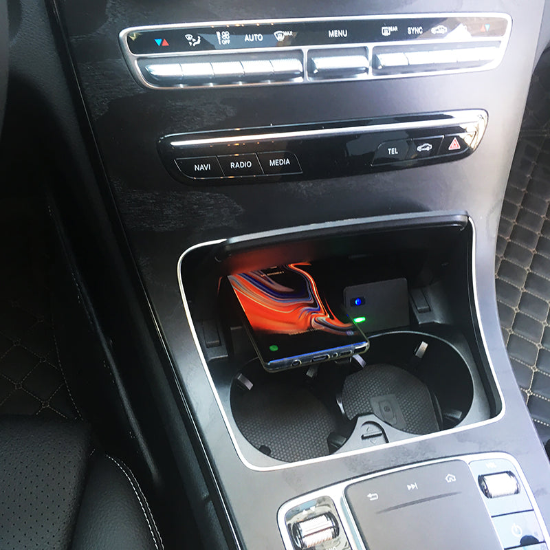 Wireless Charging For Mercedes Benz C-Class GLC 2015-2019