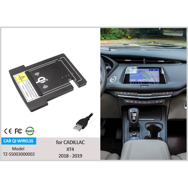 Qi Wireless Phone Charger For Cadillac XT4 2019 2018 2017