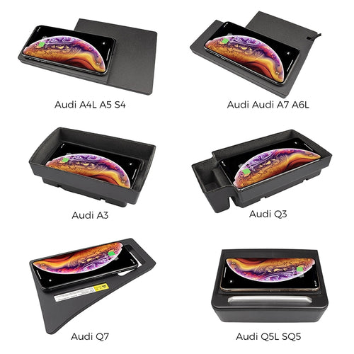 Wireless Phone Charger for Audi A3\A4L\A5\A7\A6L\S4\Q3\Q5L\SQ5\Q7