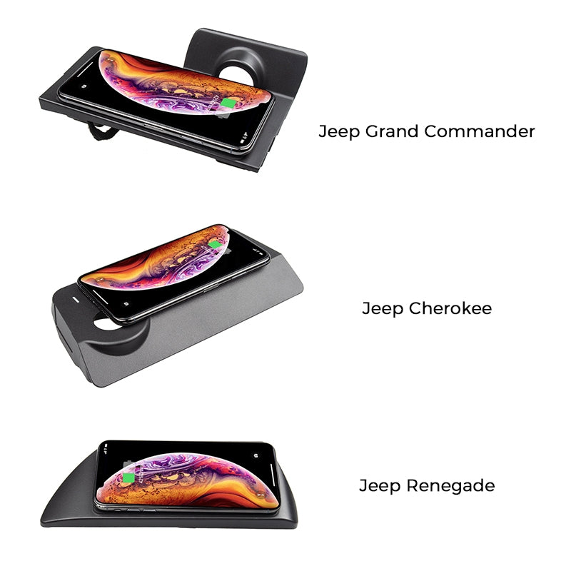 Wireless Charger for Jeep Grand Commander\Renegade\Cherokee