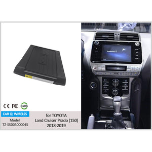 Wireless Phone Charger for Toyota Land Cruiser Prado (150) 2018 2019 2020