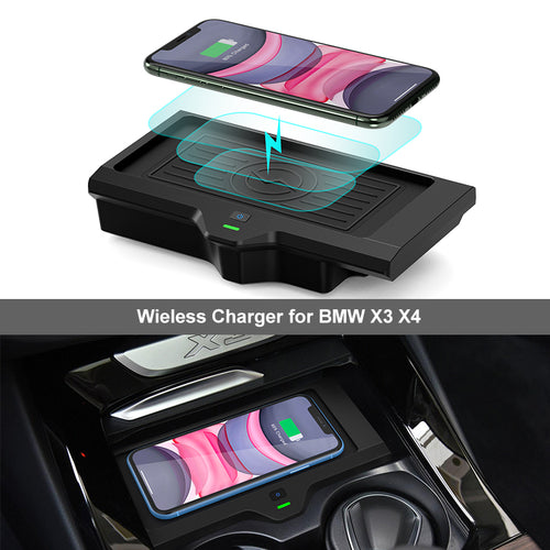 wireless charger for bmw x3 x4 accessory