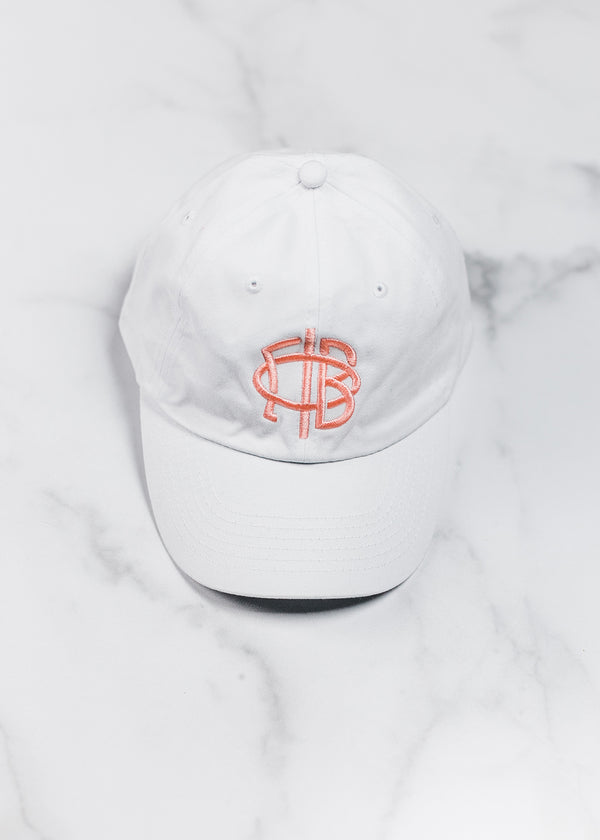 White Branded Baseball Hat - Crescent Corner - Gamma Phi Beta Official Online Store