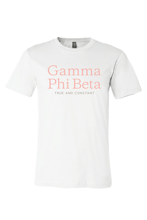 Simple True and Constant Tee - Crescent Corner - Gamma Phi Beta Official Online Store