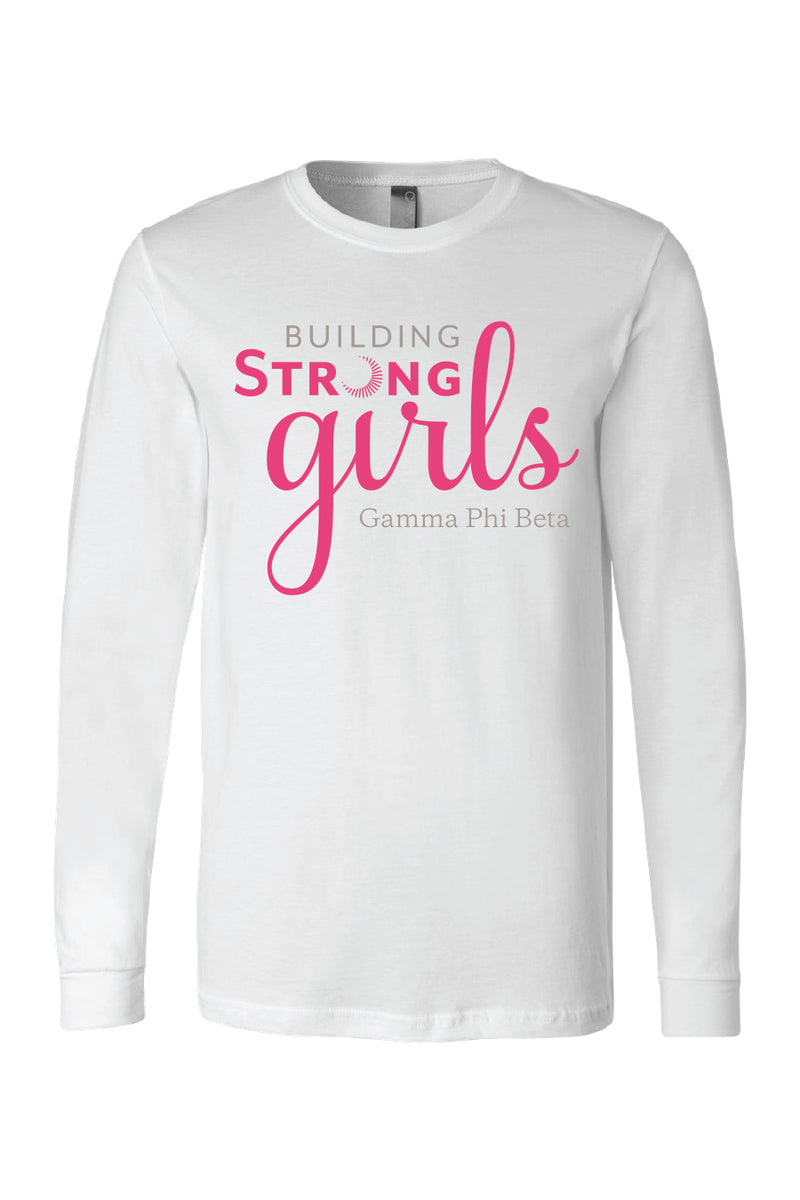 Building Strong Girls Longsleeve - Crescent Corner - Gamma Phi Beta Official Online Store