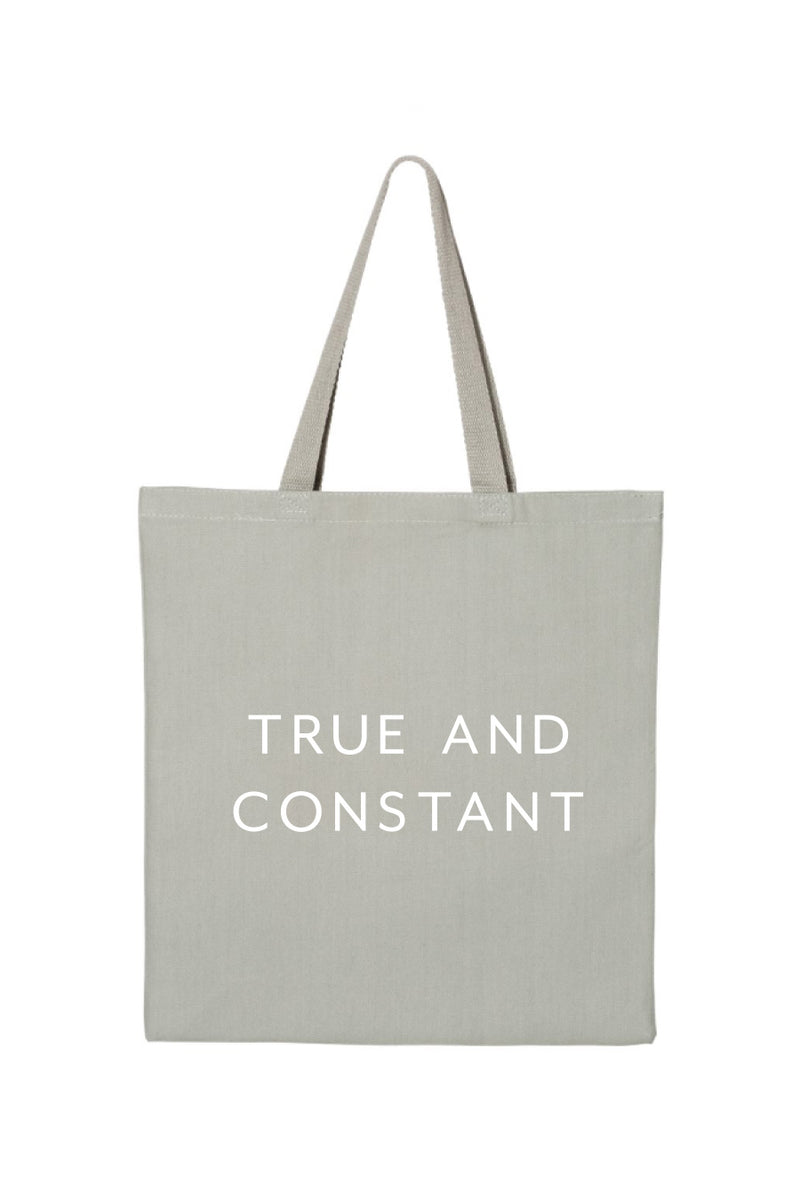 True & Constant Grey Tote - Crescent Corner - Gamma Phi Beta Official Online Store