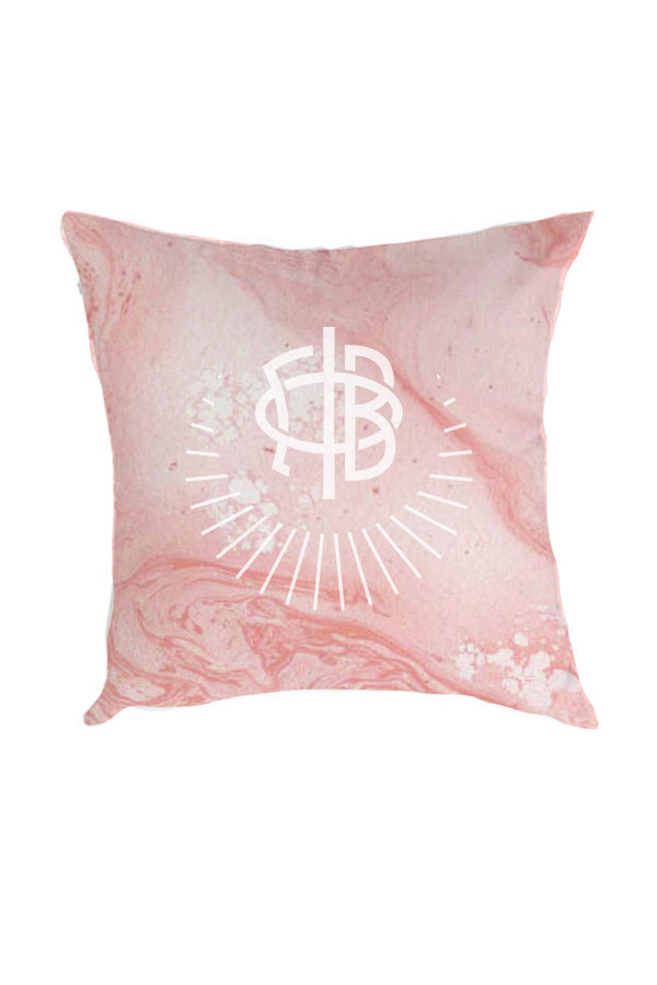 Pink Marble Pillow - Crescent Corner - Gamma Phi Beta Official Online Store
