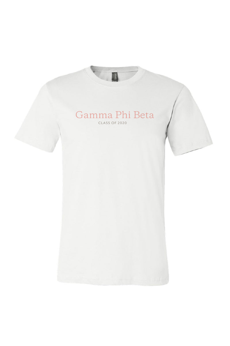 White True & Constant Tee - Crescent Corner - Gamma Phi Beta Official Online Store