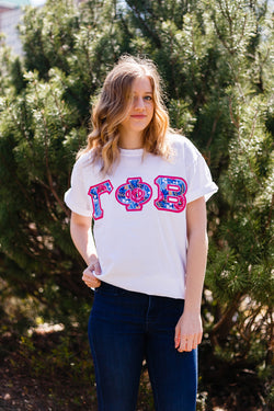 Smell of Spring Block Letter Shirt - Crescent Corner - Gamma Phi Beta Official Online Store