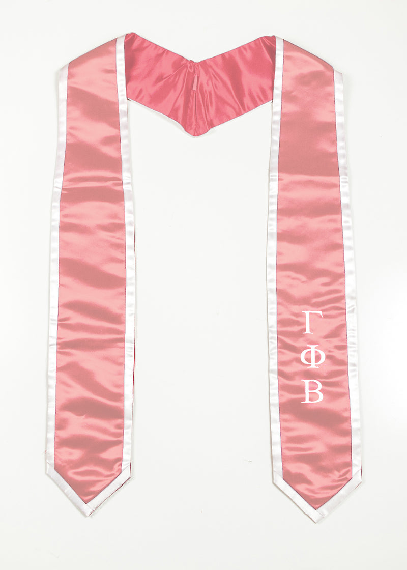 Blush Stole with White Trim - Crescent Corner - Gamma Phi Beta Official Online Store