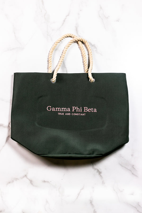 True and Constant Rope Tote - Crescent Corner - Gamma Phi Beta Official Online Store