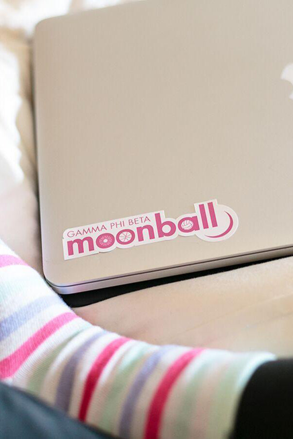 Small Moonball Sticker - Crescent Corner - Gamma Phi Beta Official Online Store