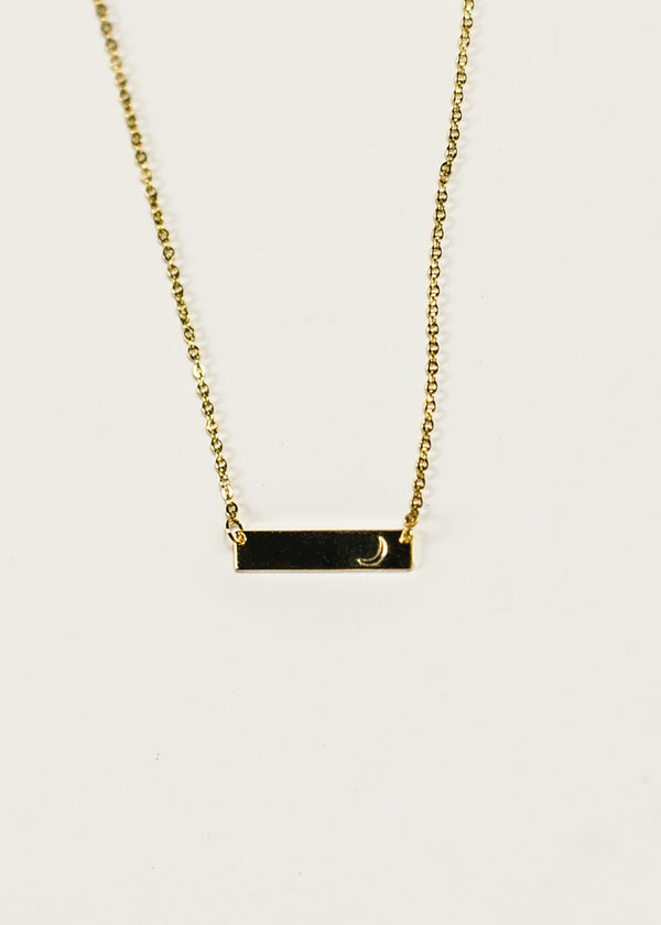 Gold Plated Crescent Bar Necklace - Crescent Corner - Gamma Phi Beta Official Online Store