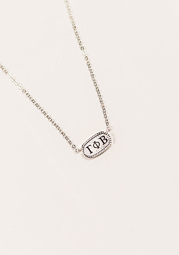 Oval Necklace - Crescent Corner - Gamma Phi Beta Official Online Store