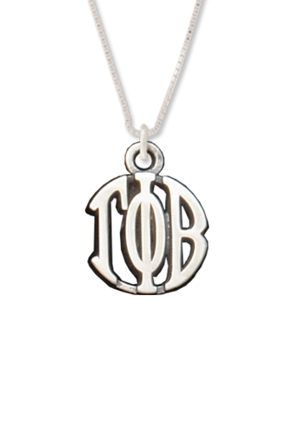 Greek Letters Circle Drop Necklace - Crescent Corner - Gamma Phi Beta Official Online Store