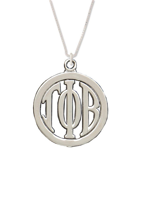 Monogram Necklace - Crescent Corner - Gamma Phi Beta Official Online Store