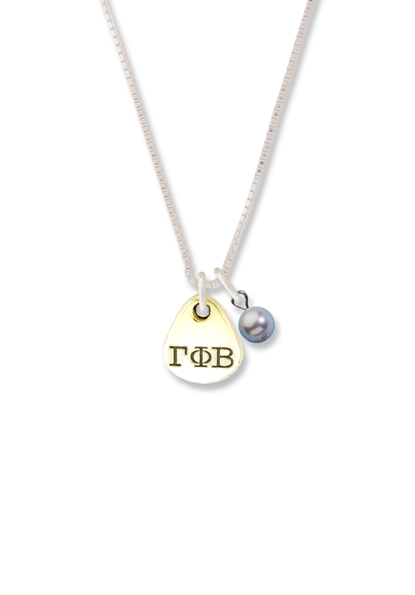 Tear Drop Charm Necklace - Crescent Corner - Gamma Phi Beta Official Online Store