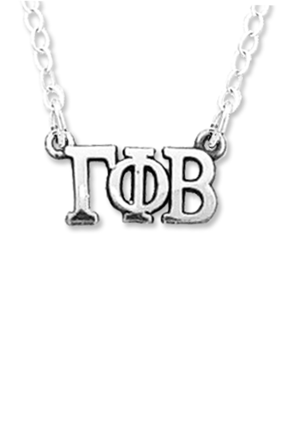 Horizontal Letters Necklace - Crescent Corner - Gamma Phi Beta Official Online Store