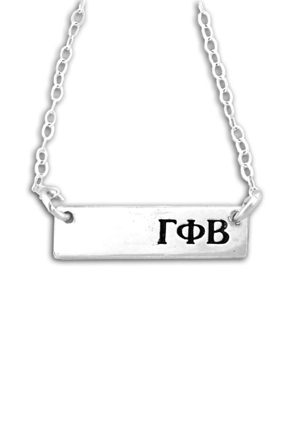 Bar Letters Necklace - Crescent Corner - Gamma Phi Beta Official Online Store