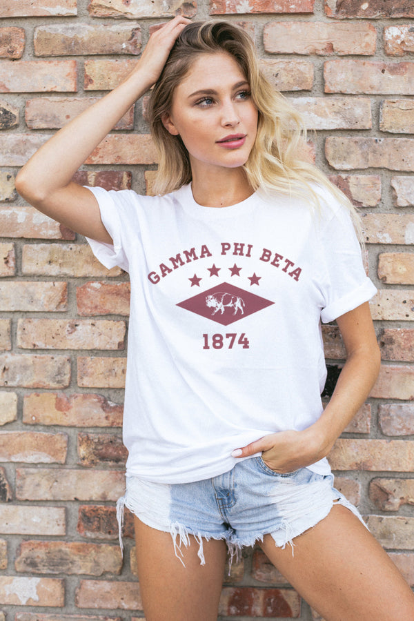 Buffalo Tee - Crescent Corner - Gamma Phi Beta Official Online Store
