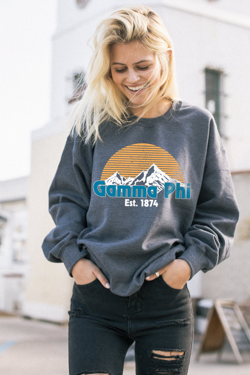 Everest Crewneck - Crescent Corner - Gamma Phi Beta Official Online Store