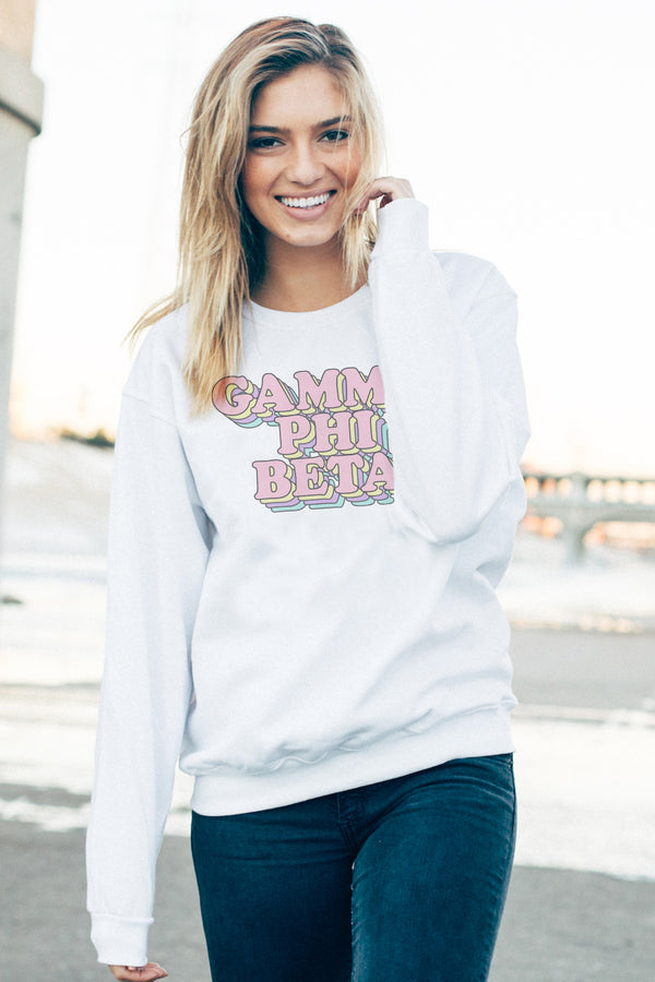 Retro Crewneck - Crescent Corner - Gamma Phi Beta Official Online Store