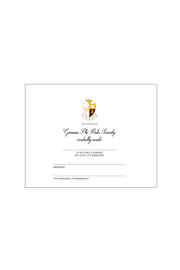 Bid Day Card Pack - Crescent Corner - Gamma Phi Beta Official Online Store