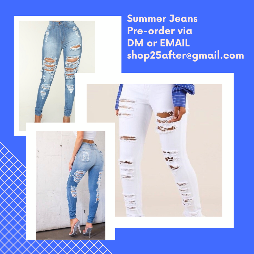 🔥Distressed Jeans  —  Pre-Order NOW!!