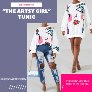 """Artsy Girl"" Sweater Tunic"
