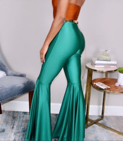 """Emerald Drip"" Bell Bottoms"