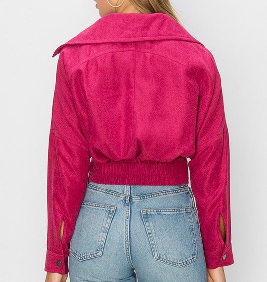 """Good Girl"" Suede Biker Jacket"