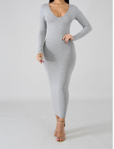 Gray Comfy Dress