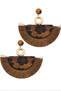 Imani Leopard Tassel Earrings