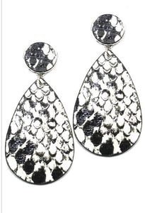 Asha Snake Skin Print Earrings