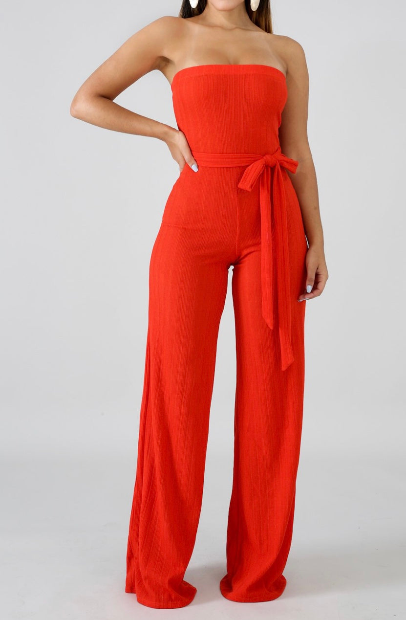 Coral Tube Knit Jumpsuit