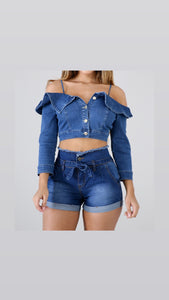 Brielle Button Denim Top