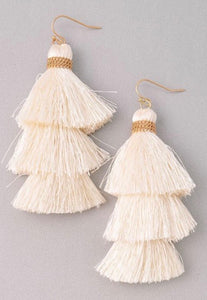 Beach Vibes Tassel Earrings