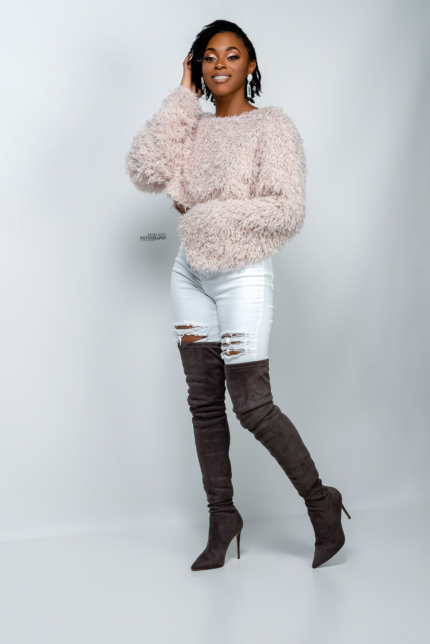 Fuzzy Fur Crop Sweater