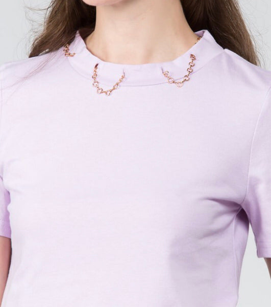 Not So Basic Chain Collar Tee
