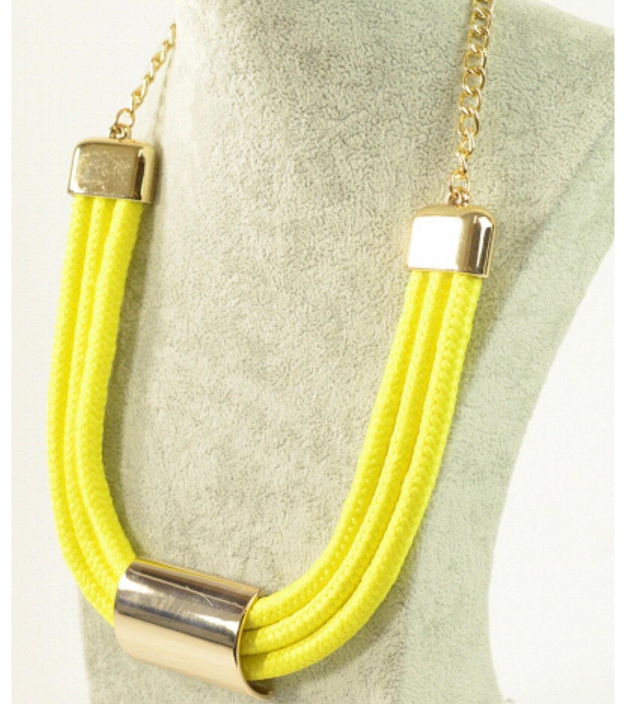 Yellow Rope Necklace