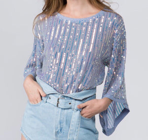 Girls Night Out Sequin Top