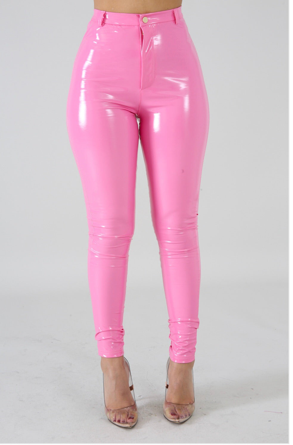 Bubble Gum Vinyl Pants