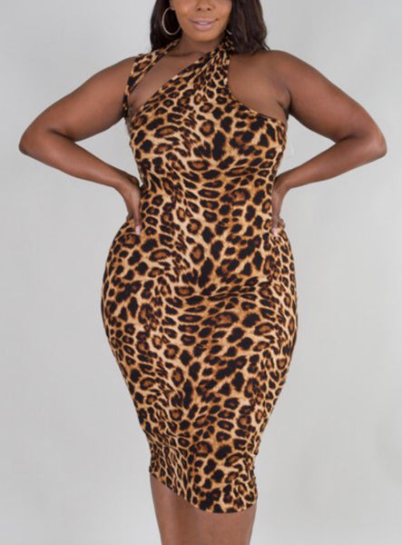 Bria Leopard Dress