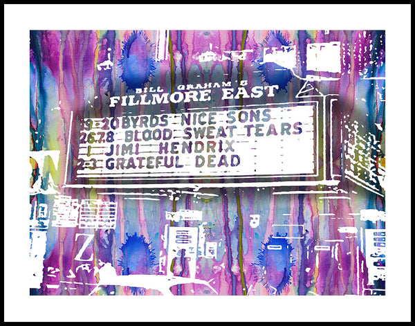 Fillmore East Watercolor