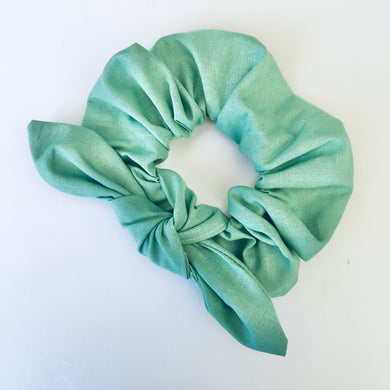 Bowed Scrunchie - Sage