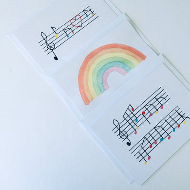 Hand Painted Gift Card Pack - Musical
