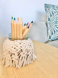 Natural Macrame Vase/Jar - M