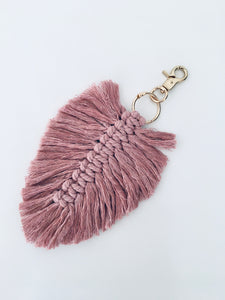 Key Ring - Dusty Pink Feather